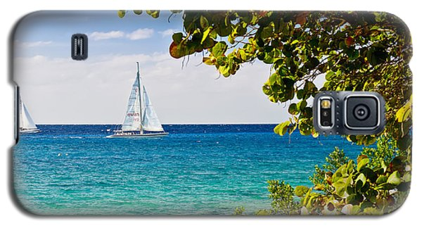 Cozumel Sailboats Galaxy S5 Case by Mitchell R Grosky