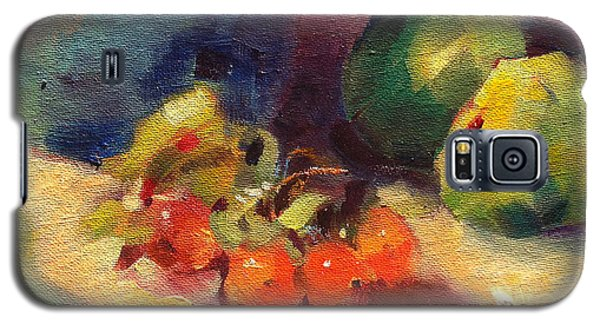 Galaxy S5 Case featuring the painting Crab Apples And Pears by Michelle Abrams