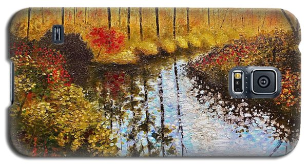 Galaxy S5 Case featuring the painting Cranberry Bog by Jason Williamson