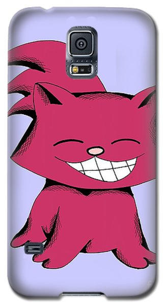 Galaxy S5 Case featuring the drawing Cranberry Cat Giggling by Pet Serrano