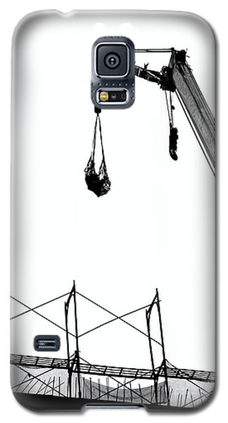 Crane And Construction Site Galaxy S5 Case by Yali Shi