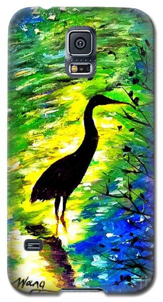 Crane In Lake Galaxy S5 Case