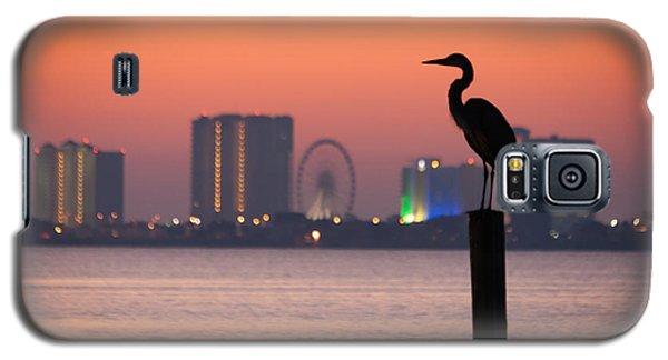 Crane On A Pier Galaxy S5 Case