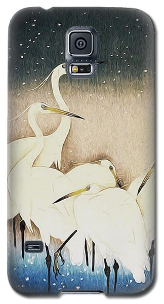 Cranes  Galaxy S5 Case by Shanina Conway
