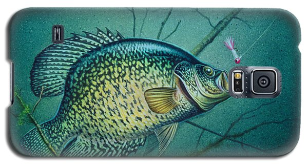 Crappie And Pink Jig Galaxy S5 Case by Jon Q Wright