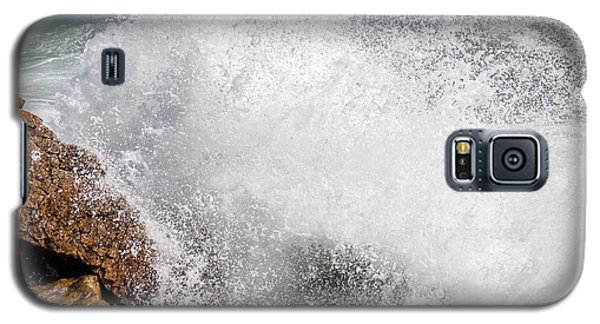Galaxy S5 Case featuring the photograph Crashing Wave Acadia  by Trace Kittrell