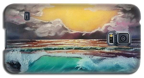 Crashing Wave At Sunrise Galaxy S5 Case