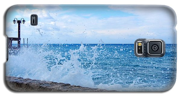 Galaxy S5 Case featuring the photograph Crashing Waves In Cozumel by Debra Martz