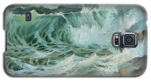 Galaxy S5 Case featuring the painting Crashing Waves by Lori Ippolito