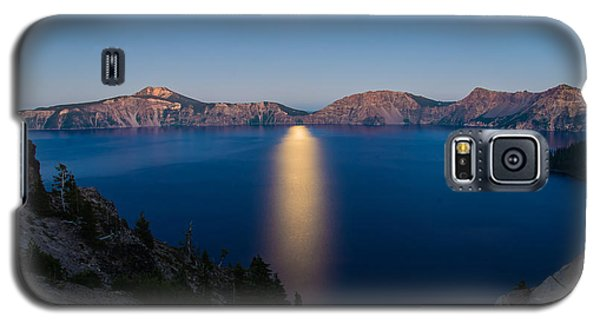 Crater Lake Moonrise Galaxy S5 Case