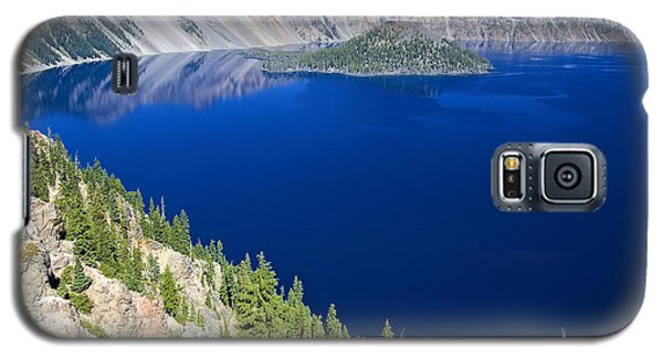 Galaxy S5 Case featuring the photograph Crater Lake Wizard Island 090910a by Todd Kreuter