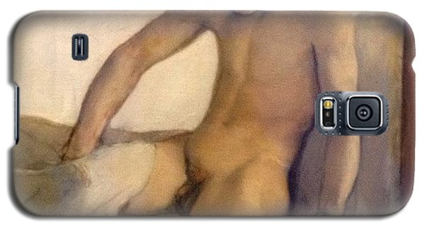 Crawling Out Of Bed #naked #nude #boy Galaxy S5 Case by Dimitre Mihaylov