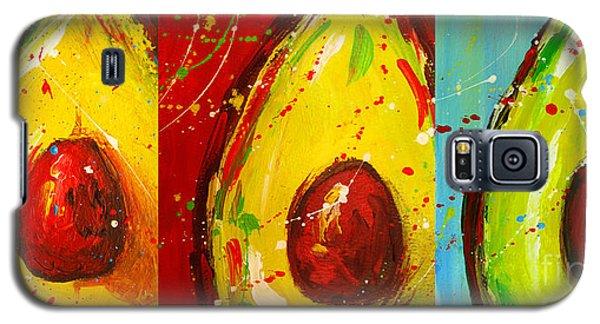 Crazy Avocados Triptych  Galaxy S5 Case