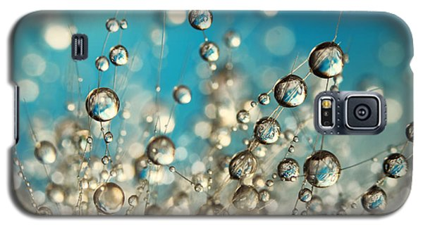 Galaxy S5 Case featuring the photograph Crazy Cactus Droplets by Sharon Johnstone