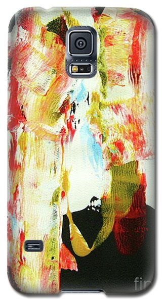 Galaxy S5 Case featuring the painting Crazy Horse  An American Hero by Roberto Prusso