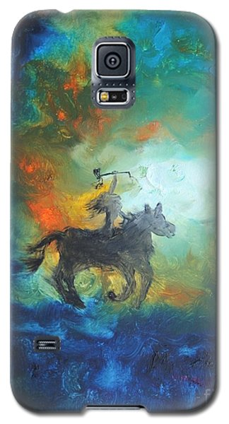 Galaxy S5 Case featuring the painting Crazy Horse by Ayasha Loya
