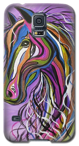 Galaxy S5 Case featuring the painting Crazy Horse by Janice Rae Pariza