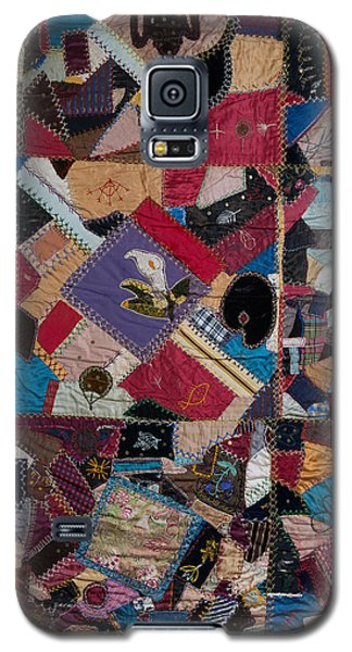 Galaxy S5 Case featuring the painting Crazy Quilt by Izabella West