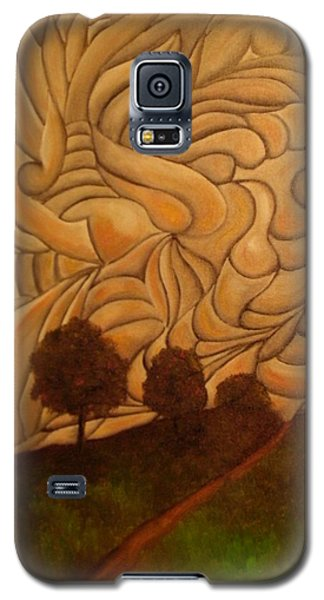 Galaxy S5 Case featuring the painting Crazy Sky by John Stuart Webbstock