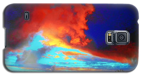 Galaxy S5 Case featuring the photograph Strange Sunset by Mark Blauhoefer
