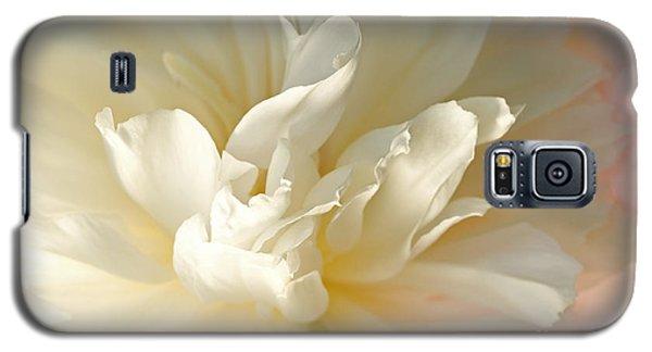 Cream Peony Galaxy S5 Case