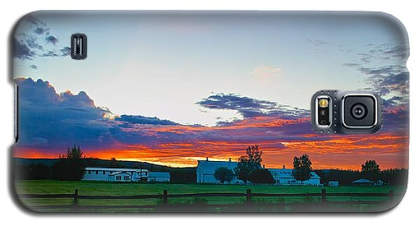 Galaxy S5 Case featuring the photograph Creamer's Diary Sunrise Fairbanks Alaska by Michael Rogers