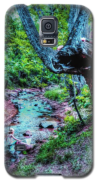 Galaxy S5 Case featuring the photograph Creek Time Enchantment by Lanita Williams