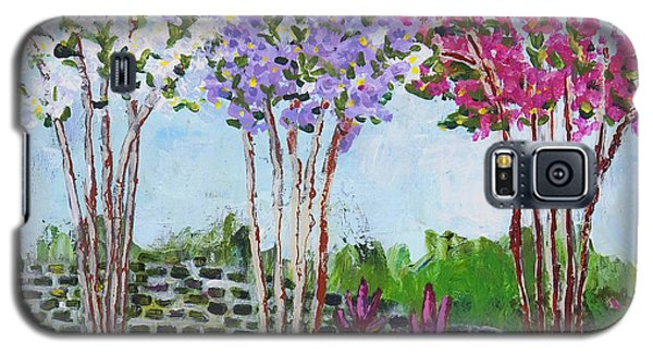 Crepe Myrtles Galaxy S5 Case by Angela Annas