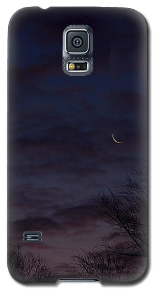 Crescent Moon And Venus Rising Galaxy S5 Case