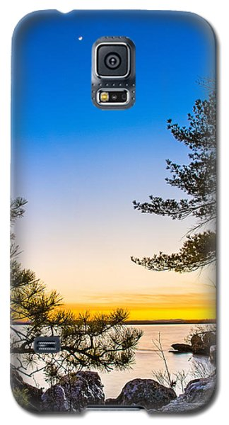 Crescent Moon Sunset Galaxy S5 Case