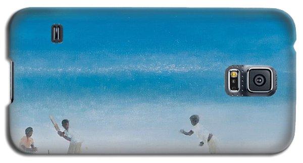 Cricket Galaxy S5 Case - Cricket On The Beach, 2012 Acrylic On Canvas by Lincoln Seligman