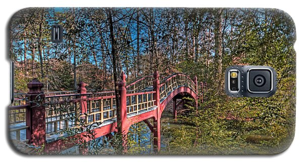 Galaxy S5 Case featuring the photograph Crim Dell Bridge by Jerry Gammon
