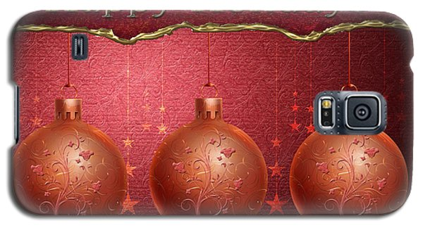 Galaxy S5 Case featuring the digital art Crimson Ornaments by Arline Wagner