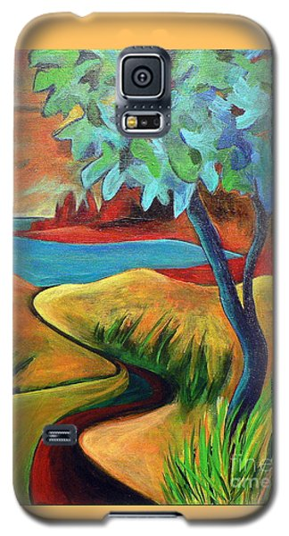 Crimson Shore Galaxy S5 Case by Elizabeth Fontaine-Barr
