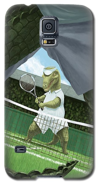 Crocodiles Playing Tennis At Wimbledon  Galaxy S5 Case