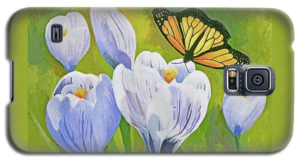 Crocus And Monarch Butterfly Galaxy S5 Case