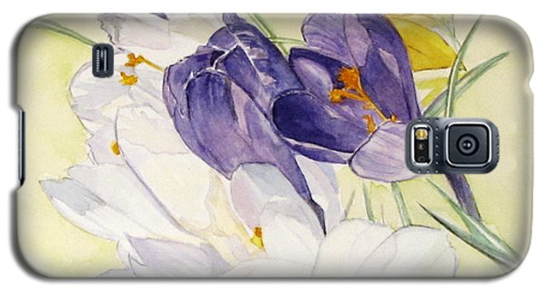 Galaxy S5 Case featuring the painting Crocus by Carol Flagg