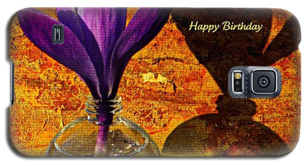Crocus Floral Birthday Card Galaxy S5 Case