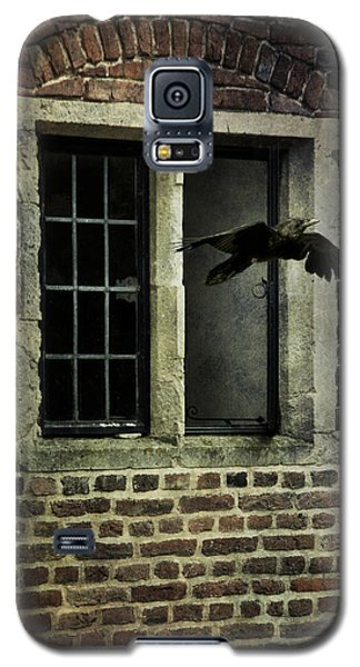 Galaxy S5 Case featuring the photograph Croe Flying Out Of  Window by Ethiriel  Photography