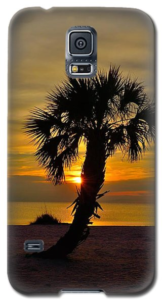 Galaxy S5 Case featuring the photograph Crooked Palm Sunset by Richard Zentner