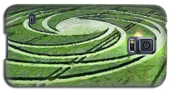 Crop Circles In Field Galaxy S5 Case by Georgi Dimitrov