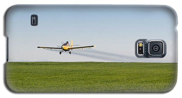 Crop Duster Airplane Flying Over Farmland Galaxy S5 Case