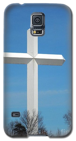 Cross And Flag Under God Galaxy S5 Case