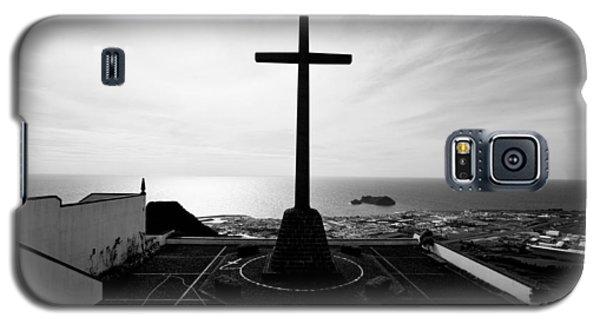 Cross Atop Old Chapel In Village  Galaxy S5 Case