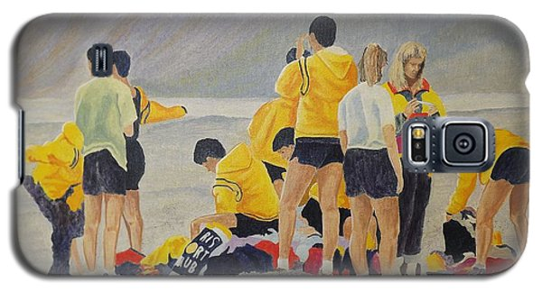 Galaxy S5 Case featuring the painting Cross Country Beach Run by Richard Faulkner