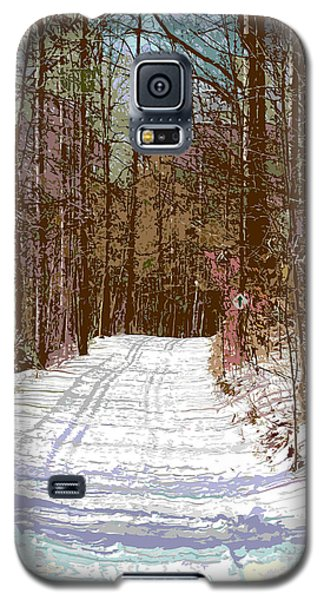 Galaxy S5 Case featuring the photograph Cross Country Trail by Nina Silver