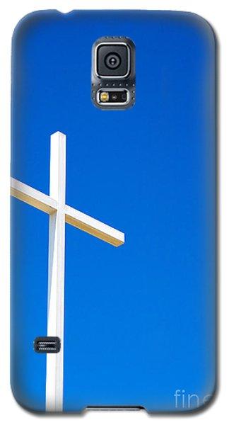 Cross On Blue Sky Galaxy S5 Case