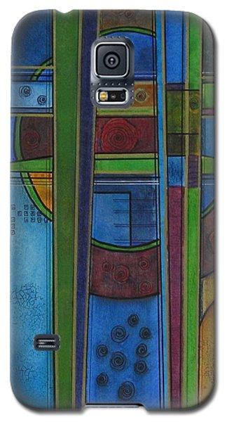 Galaxy S5 Case featuring the painting Cross Roads by Nicole Nadeau