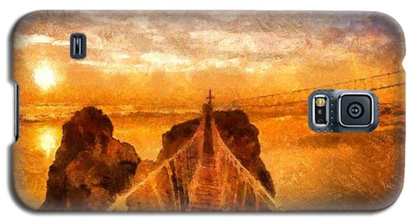 Galaxy S5 Case featuring the painting Cross That Bridge by Catherine Lott