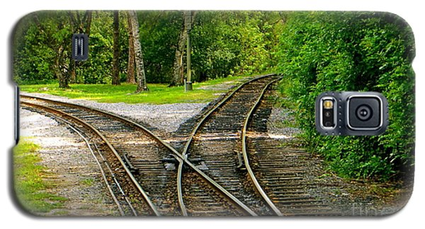 Galaxy S5 Case featuring the photograph Crossing The Lines by Joy Hardee